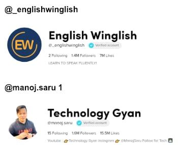 Few Examples of #Edutok Accounts