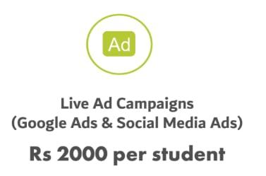 WMA Digital Marketing Fees includes Live Ad Campaigns