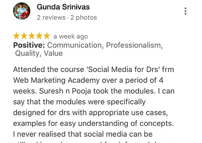 Web Marketing Academy - Rated 5/5 for Digital Marketing Course in India