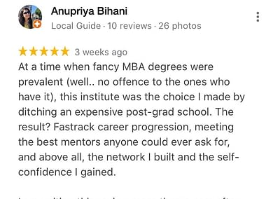 Web Marketing Academy Reviews: Rated 5 Star and Top 10 Institute in India