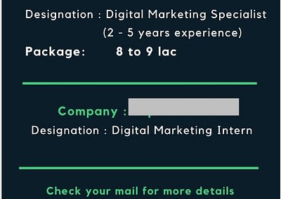 Digital Marketing Job Openings for WMA Students, October 2020