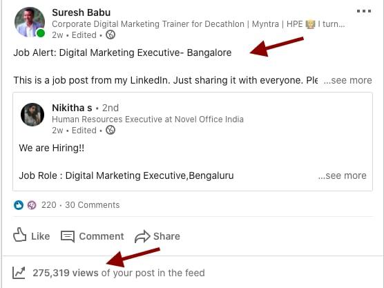 Job openings in Bangalore