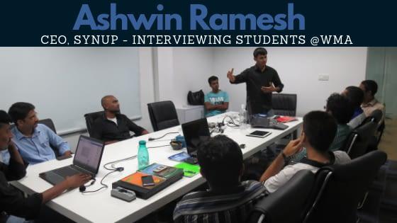 Ashwin Ramesh at Web Marketing Academy