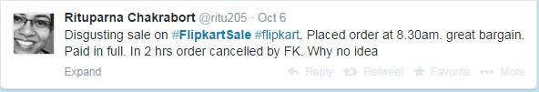 flipkart tweet from customer