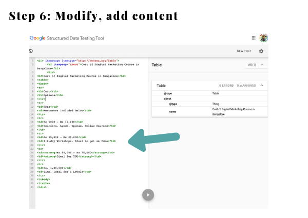 Add your own Content to Structured Data Tool